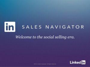 using LinkedIn sales navigator